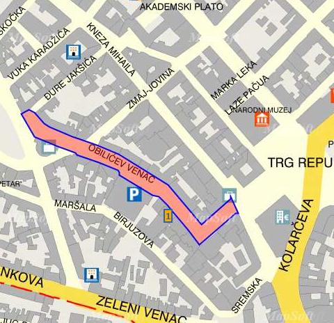 obilicev venac mapa beograd ZID2   za moderne dzentlmeneodela poznatih firmi   Paul and  obilicev venac mapa beograd